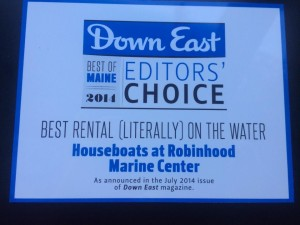 "Voted ""Best Rental on the Water"" by Down East Magazine"
